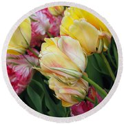 A Bouquet Of Tulips For You Round Beach Towel by Eva Kaufman