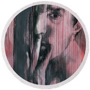 A Boy Named Silence Round Beach Towel