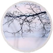 A Breathing Too Quiet To Hear Round Beach Towel