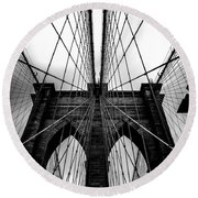 A Brooklyn Perspective Round Beach Towel by Az Jackson