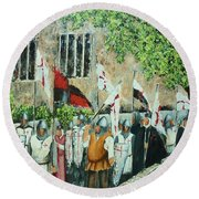 A Call To Arms Round Beach Towel