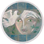 A Captured Young Emotion Round Beach Towel by John Keaton