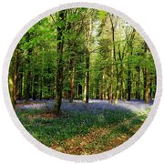 Round Beach Towel featuring the photograph A Carpet Of Colour by Wendy Wilton