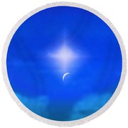 Beautiful New Day In The Heavens Round Beach Towel