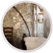 A Cell In La Conciergerie De Paris Round Beach Towel by RicardMN Photography