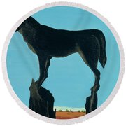 A Chestertown Moment , 1999 Round Beach Towel