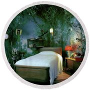 A Child's Bedroom Designed By William Riva Round Beach Towel