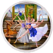 A Dance For All Seasons Round Beach Towel