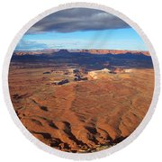 A Dark Cloud Overhead Round Beach Towel by Jim Garrison