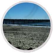 Round Beach Towel featuring the photograph A Day At The Beach by Michael Gordon