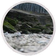 Round Beach Towel featuring the photograph A Day At The River by Michael Krek