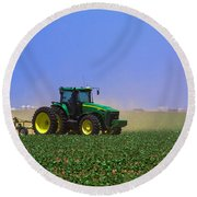A Day On The Farm Round Beach Towel
