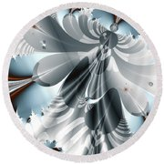 A Deeper Reflection Abstract Art Prints Round Beach Towel