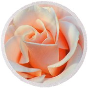 A Delicate Rose Round Beach Towel by Cindy Manero