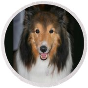 A Dog Named Beau Round Beach Towel