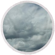 A Dragon In The Clouds Round Beach Towel