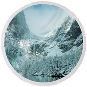 A Dream At Dream Lake Round Beach Towel