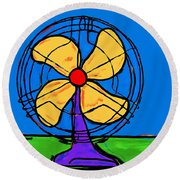 A Fan Of Color Round Beach Towel