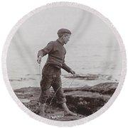 A Fisher Laddie Round Beach Towel