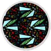 Round Beach Towel featuring the digital art A Fly Of Sorts And Berries by Elizabeth McTaggart