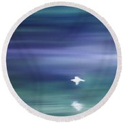 A Gentle Breeze Round Beach Towel