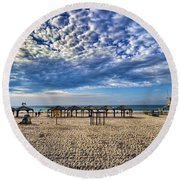 a good morning from Jerusalem beach  Round Beach Towel