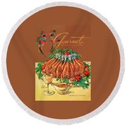 A Gourmet Cover Of Chicken Round Beach Towel by Henry Stahlhut