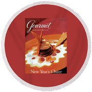 A Gourmet Cover Of Moch Mousse Round Beach Towel