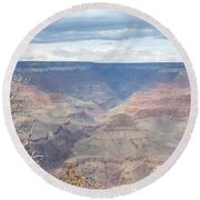 A Grand Canyon Round Beach Towel by Laurel Powell