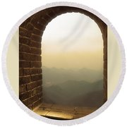 A Great View Of China Round Beach Towel
