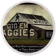 A Handful Of Aggies Round Beach Towel by Stephen Stookey