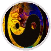 A Happy Balance Of Energies Abstract Healing Art Round Beach Towel