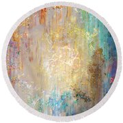 A Heart So Big - Custom Version 2 - Abstract Art Round Beach Towel