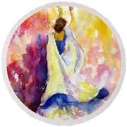 A Heavenly Dancer Round Beach Towel