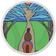 A Horse Of A Different Colour Round Beach Towel by Barbara St Jean