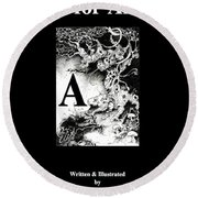 A Is For Arbol Round Beach Towel