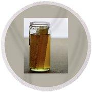 A Jar Of Honey Round Beach Towel
