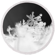 A Jewel Of A Snowflake Round Beach Towel