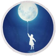 A Journey Of The Imagination Round Beach Towel