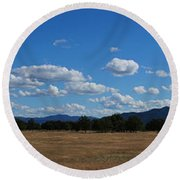 A June Panorama In Southern Oregon Round Beach Towel