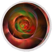 A Kind Of Inner Opalescence Round Beach Towel