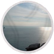 A King's View Round Beach Towel by Richard Brookes