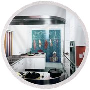 A Kitchen Designed By Valerian S. Rybar Round Beach Towel