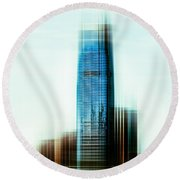 A Look To New Jersey II - Steel Round Beach Towel