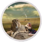A Magnificent Friendship Round Beach Towel