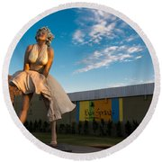 A Marilyn Morning Round Beach Towel