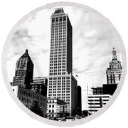 A Moment In Time...tulsa Ok Round Beach Towel by Chris Tarpening