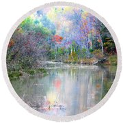A Monet Autumn Round Beach Towel