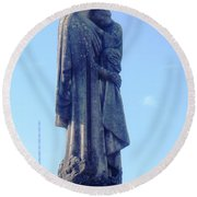 Round Beach Towel featuring the photograph A Mother's Love by Alys Caviness-Gober