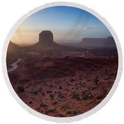 A New Beginning Round Beach Towel by Jim Garrison